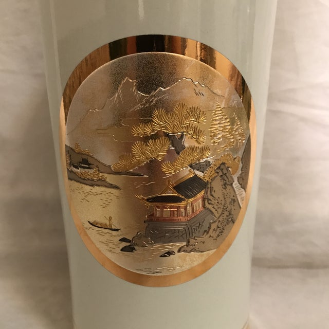 Gilded Ceramic Japanese Chokin Vase Chairish