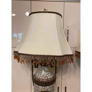 Tall Lamps Beaded Shades - A Pair Preview