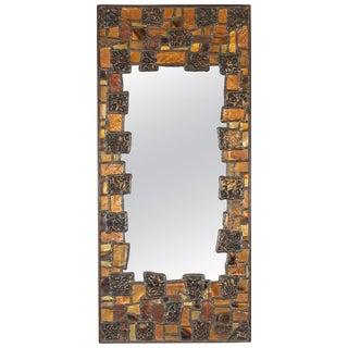 Mid-Century Modern Brutalist Patchwork Mirror in Brass, Copper, Bronze & Pewter For Sale
