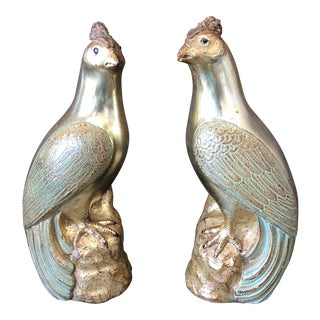 Borghese Gilded Peacocks- a Pair For Sale