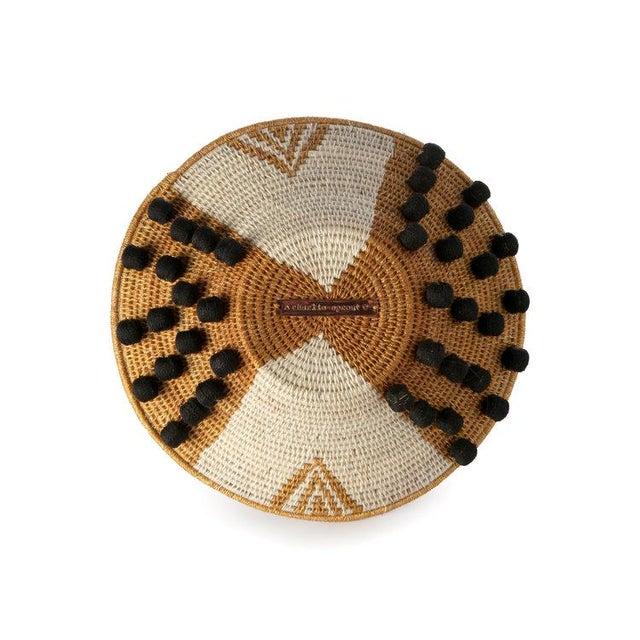 Not Yet Made - Made To Order Envelope Medium Basket Ochre/cream/black For Sale - Image 5 of 7