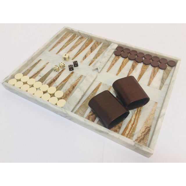 Italian Onyx and Marble Backgammon Set, 1960s For Sale - Image 13 of 13
