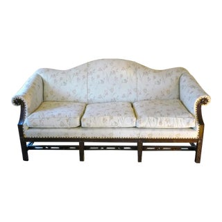 Early 20th Century Vintage Chippendale-Style Sofa For Sale