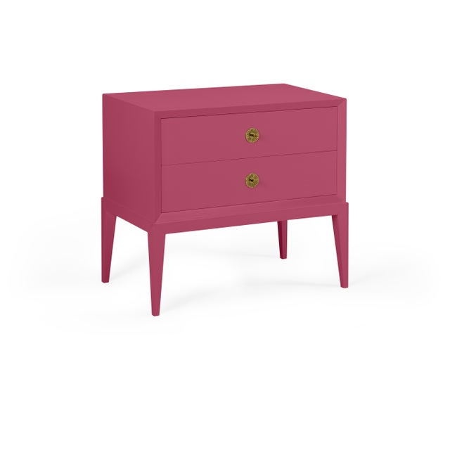 Transitional Casa Cosima Hayes 2-Drawer Side Chest, Old Claret For Sale - Image 3 of 3