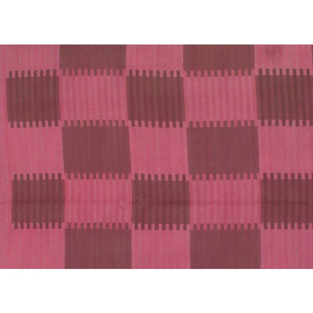 Scandinavian design. Flat weave. Kilims are generally woven with the slitweave technique. From India.