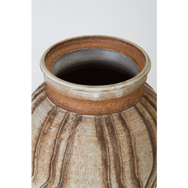 California Modern Incised Studio Pottery Vessel With Lid by Don Jennings For Sale - Image 9 of 13