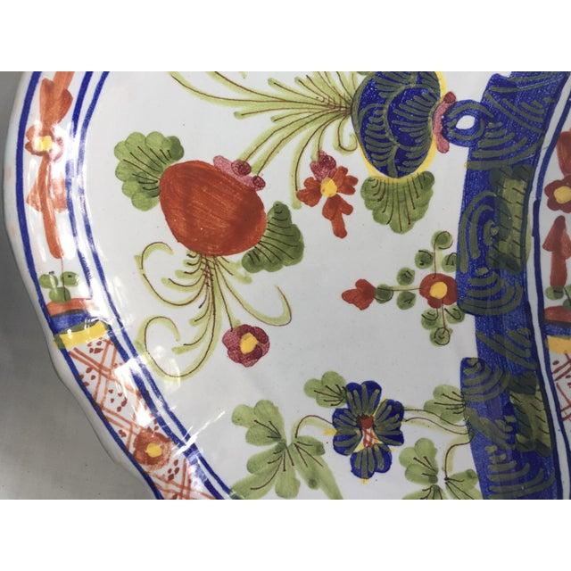 Blue CACF Faenza Italian Pottery Bone Plates - a Pair For Sale - Image 8 of 13