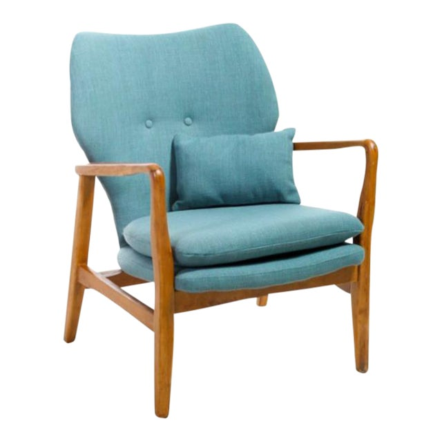 Mid-Century Modern Upholstered Chair - Image 1 of 5