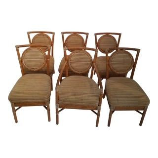 Vintage McGuire Rattan Chairs - Set of 6 For Sale