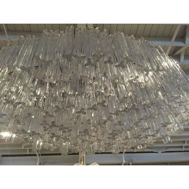1960s Venini Mid-Century Italian Murano Glass Chandelier For Sale - Image 5 of 10