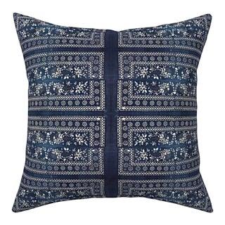 Chinese Batik Indigo Pillow Cover 22x22 For Sale