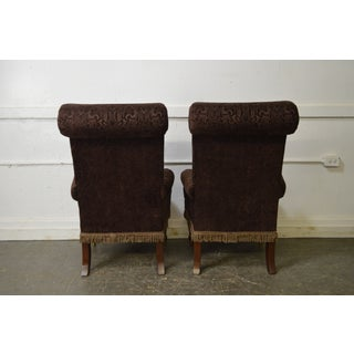 Drexel Pair of High Back Upholstered Host Arm Chairs (B) Preview