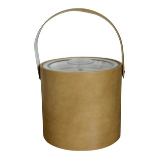Vintage Georges Briard Tan Vinyl Ice Bucket For Sale