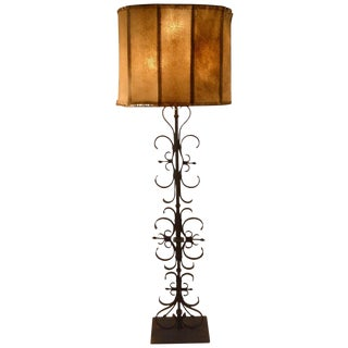 Wrought Iron Spanish Gothic Style Floor Lamp For Sale
