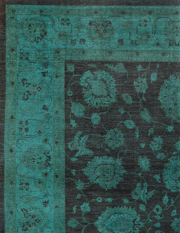 Green overdyed rug Grey Looking For Rug That Makes Statement Look No Further Than This Gorgeous Overdyed Chairish Green Overdyed Area Rug 810