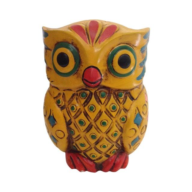1960s Folk-Style Owl Bank - Image 1 of 8
