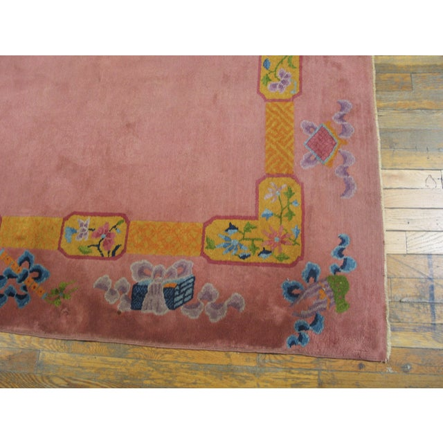 """Art Deco Antique Chinese Art Deco Rug 6'8"""" X 9'0"""" For Sale - Image 3 of 8"""
