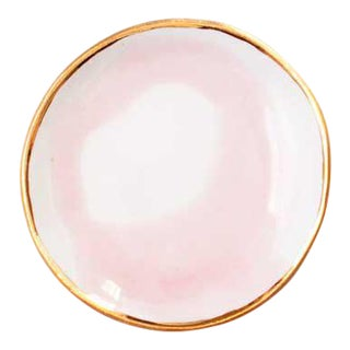 Suite One Studio Ring Dish in Rose Swirl With Gold Rim For Sale