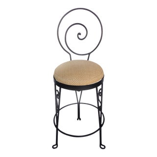 Mid-Century Modern Sculptural Wrought Iron Bar Stool-9 Available For Sale
