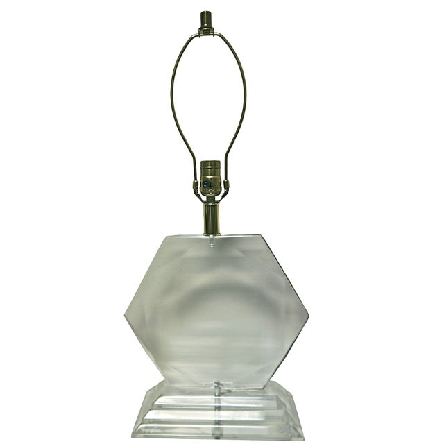 Van Teal Hexagonal Lucite Lamp - Image 1 of 6