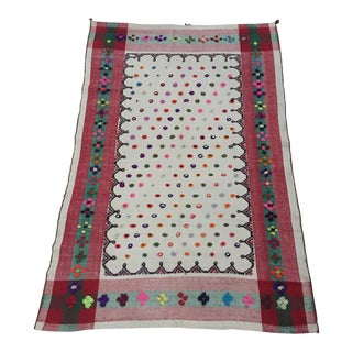 1940s Wedding Blanket Vintage Persian Qashqai For Sale