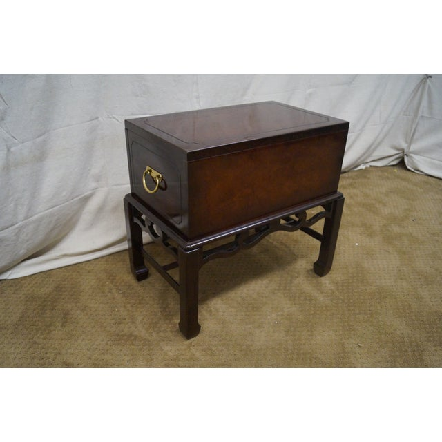 Asian Style Chest on Frame End Table - Image 4 of 10
