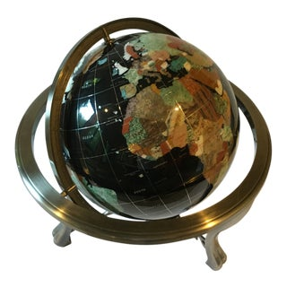 Vintage Semi-Precious Gemstone Globe
