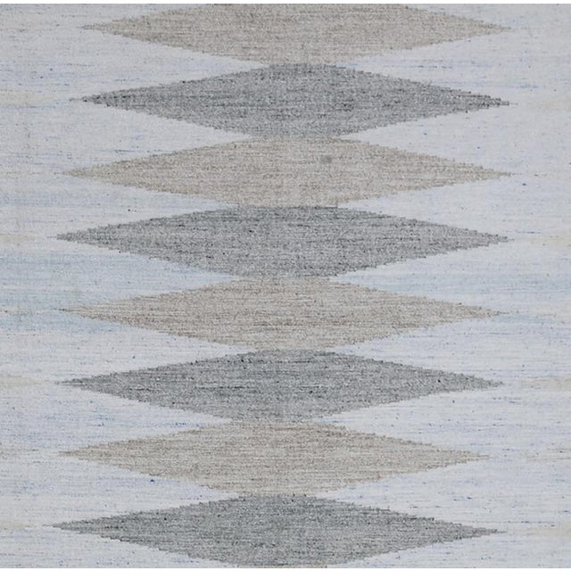 Contemporary Schumacher Patterson Flynn Martin Avesta Hand Woven Geometric Rug For Sale - Image 3 of 5