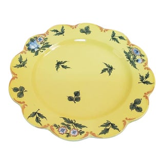 Vintage Hand Painted Italian Ceramic Plate for Tiffany & Co. For Sale