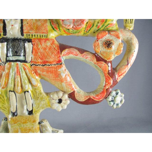 Vintage Aurelio Flores Mexican Folk Art Tree of Life Sculpture For Sale - Image 4 of 13