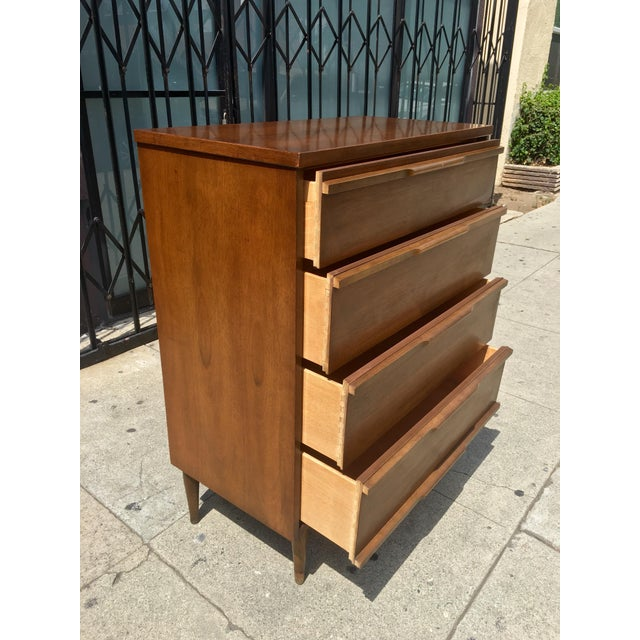 Mid-Century Highboy with Sculpted Pulls - Image 8 of 10