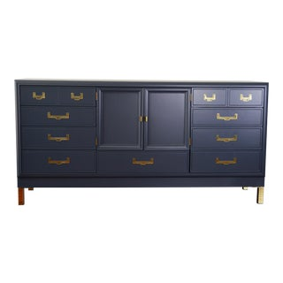 Restored 1970s Stanley Furniture Navy Dresser