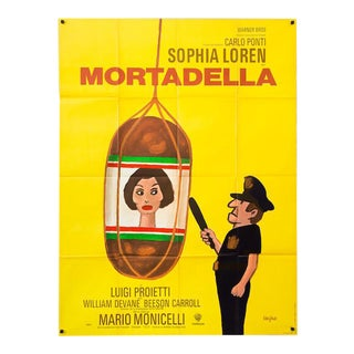 "Vintage large 1972 French Sophia Loren ""Mortadella"" Film Poster"