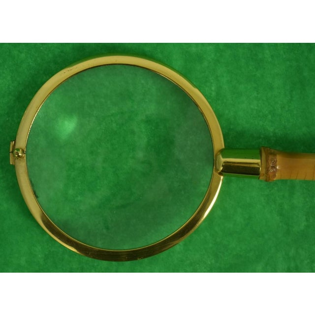 """Vintage Bamboo Magnifying Glass Sz: 9 3/4""""L x 4""""W"""
