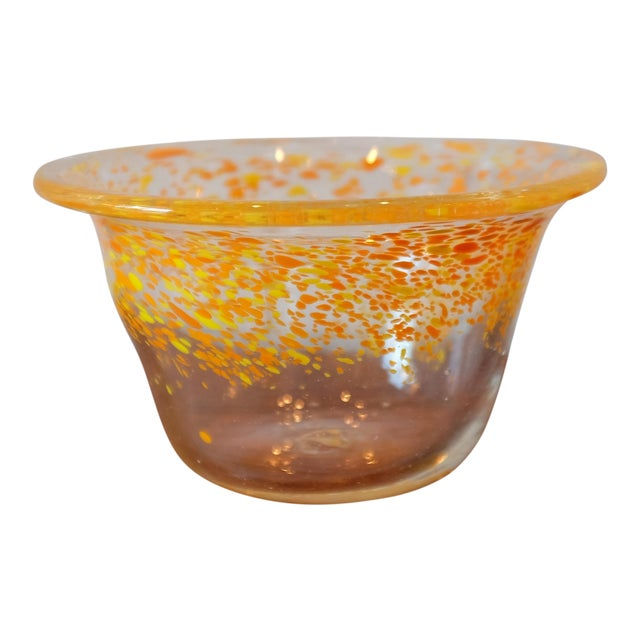Hand Blown Glass Decorative Bowl For Sale
