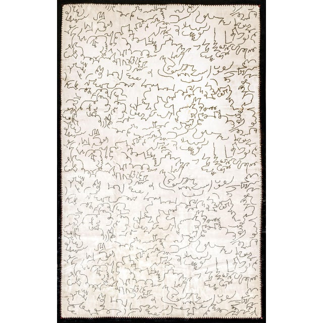 2010s Boccara Limited Edition Artistic Rug Homage to Jean Cocteau, White For Sale - Image 5 of 5