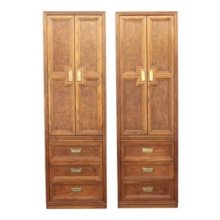 Mid-Century Modern Armoires/ Wardrobes - Campaign Style - a Pair For Sale
