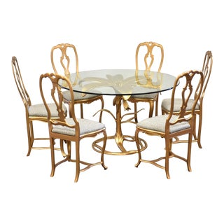 Arthur Court Tiger Lily Dining Table and Chairs For Sale