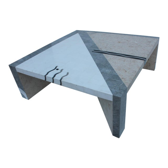 Maitland Smith Tessellated Stone Square Coffee Table - Image 1 of 11