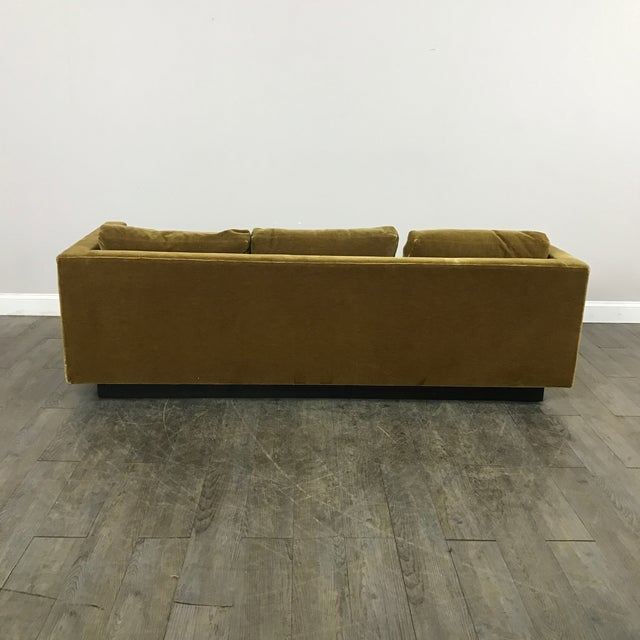 Vintage Gold Mohair Sofa - Image 11 of 11