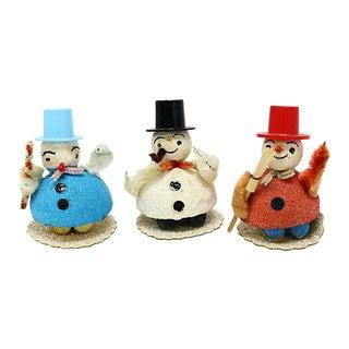 Midcentury Snowman Figures, Set of 3 For Sale
