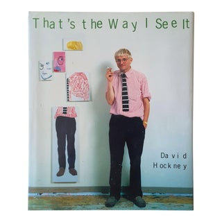 "David Hockney "" That's the Way I See It "" Rare Vintage 1993 1st Edition Collector's Iconic Hardcover Art Book For Sale"