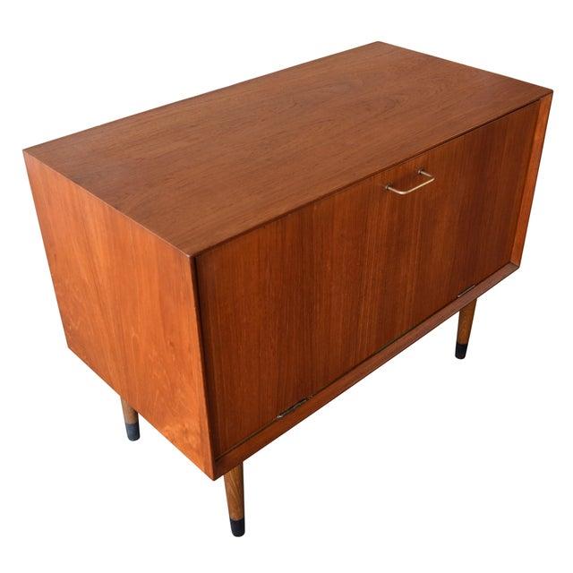 Vintage Danish Mid-Century Modern Teak Record Cabinet For Sale - Image 5 of 7