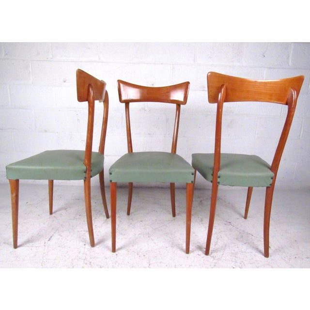 Italian Modern Ico Parisi Style Dining Chairs - Set of 6 For Sale - Image 4 of 11