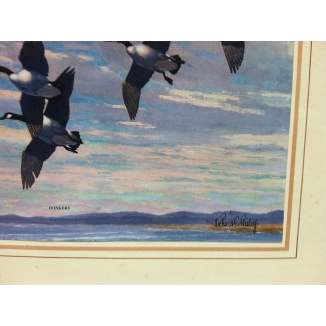 "Americana Mounted ""Honkers"" Print by Richard Bishop For Sale - Image 3 of 4"