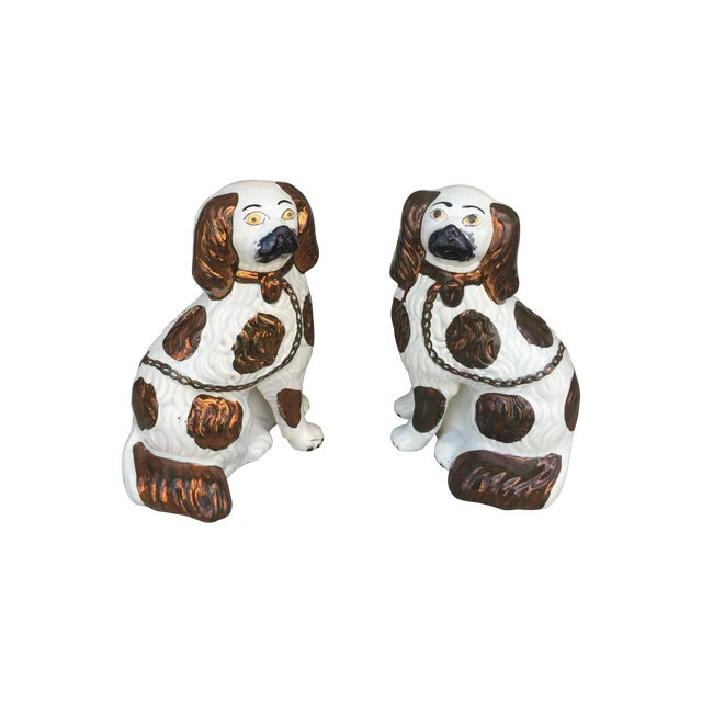 Staffordshire Pottery Dogs - Pair - Image 1 of 8