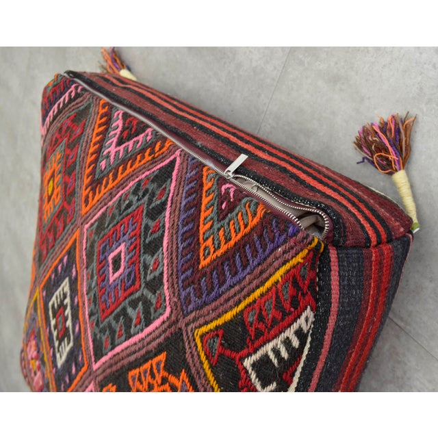 Turkish Kilim Rug Sitting Cushion Floor Pillow
