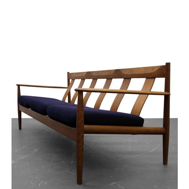 Solid Danish Teak Slat-Back Sofa by Grete Jalk for France & Son For Sale In Las Vegas - Image 6 of 9