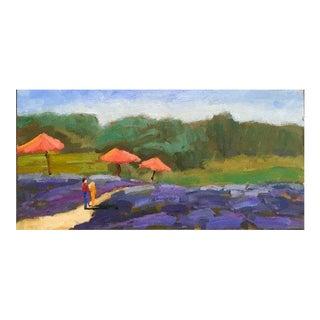Matanzas Creek Lavender - Original Oil Plein Air Painting For Sale