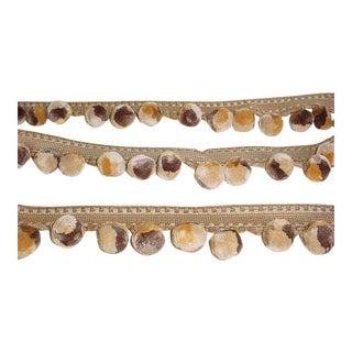 Kravet Couture Tumbleweed Buckwheat Plush Pompom Tassel Fringe Trim - 8-1/4y For Sale